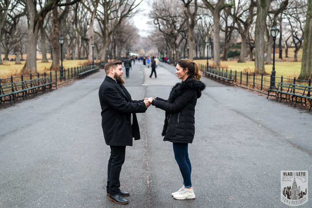 Photo 9 Cats Rock Proposal in Central Park | VladLeto