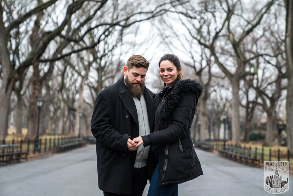 Engagement photography in Central Park