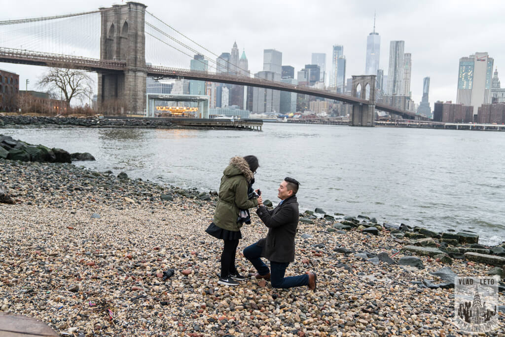 Brooklyn bridge proposal photo