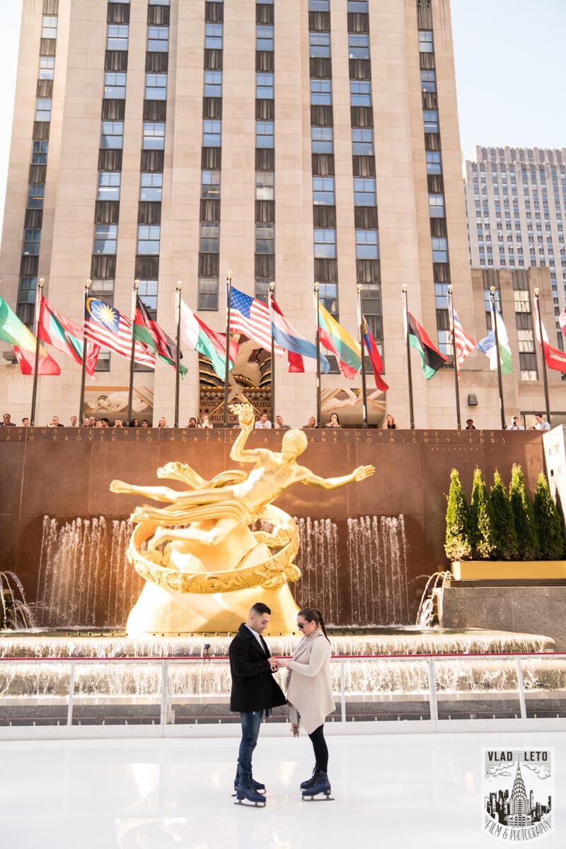 Photo 4 Proposal at the Rink at Rockefeller Center | VladLeto