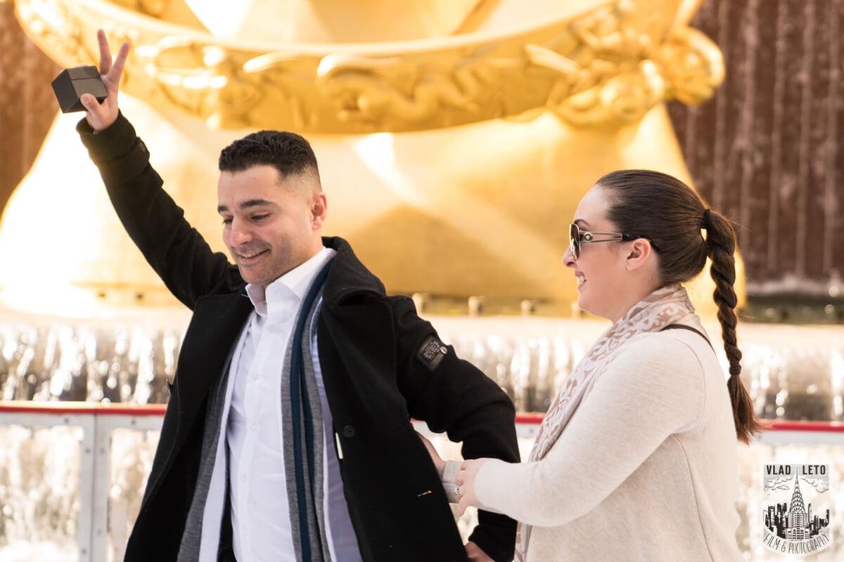 Photo 6 Proposal at the Rink at Rockefeller Center | VladLeto