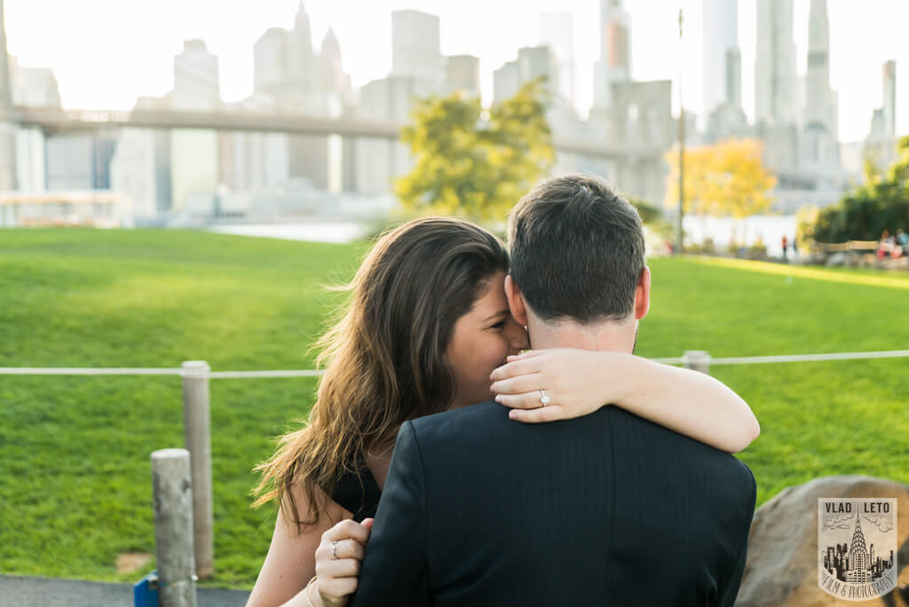 Engagement photographer in brooklyn