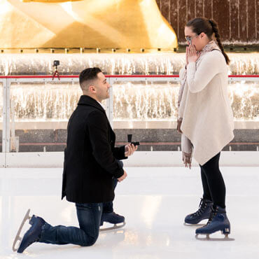Proposal at the Rink at Rockefeller Center