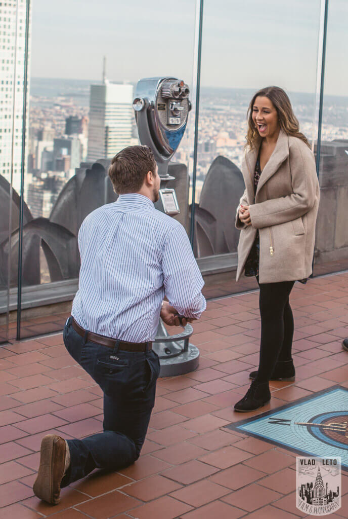 Surprise proposal from Top of The Rock