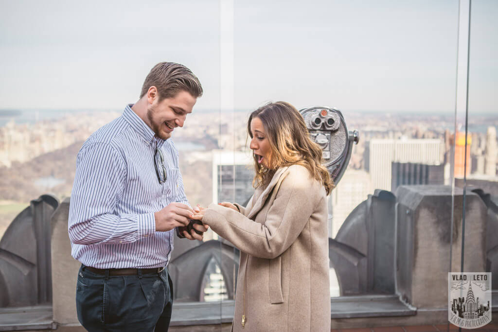 Photo 4 Top of the Rock Marriage Proposal 3   VladLeto