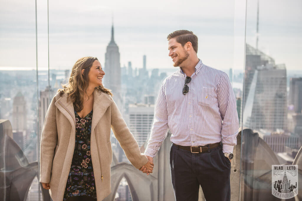 Engagement photos from Top of The Rock