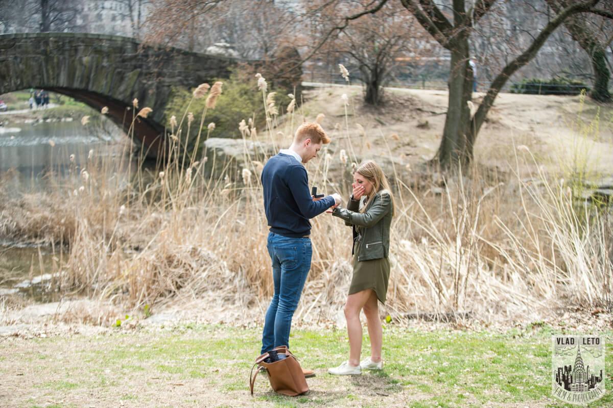 Photo 4 Central Park Surprise Proposal under Gapstow bridge.   VladLeto