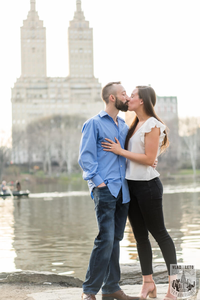 Photo 4 Central Park Marriage Proposal at The Lake Viewing Area | VladLeto