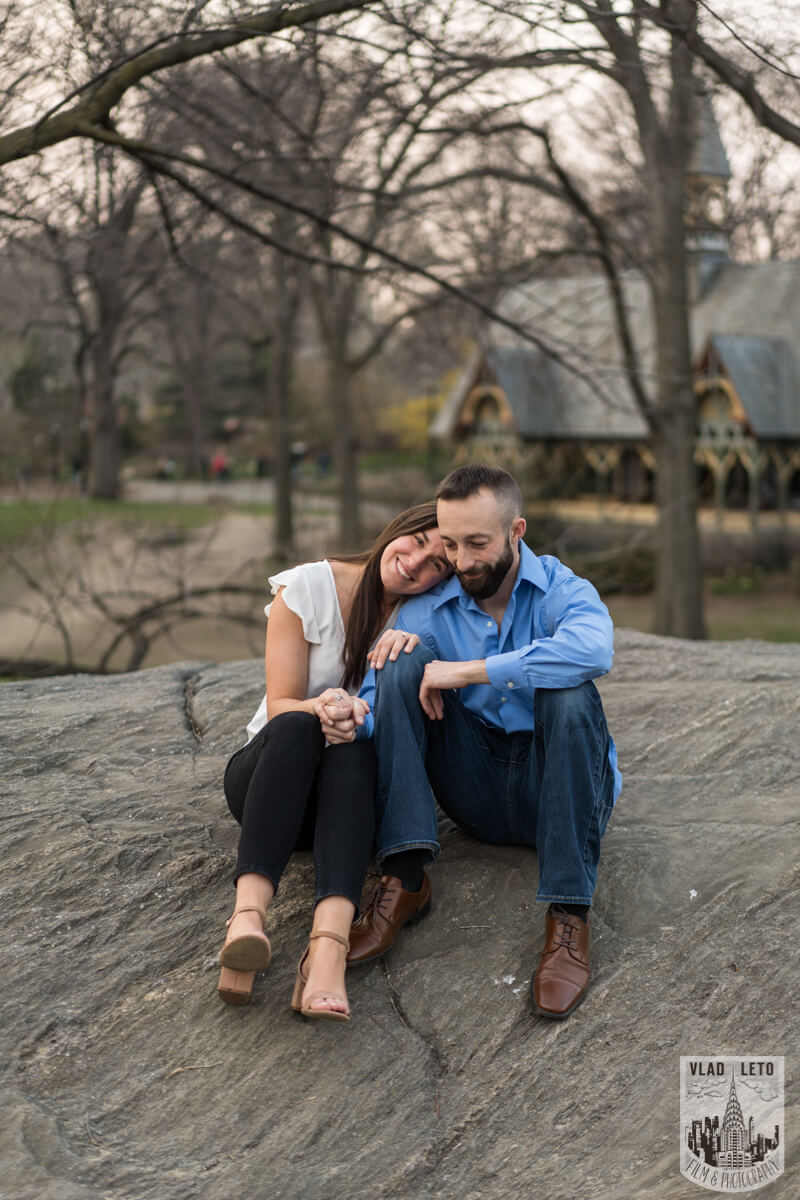 Photo 13 Central Park Marriage Proposal at The Lake Viewing Area | VladLeto