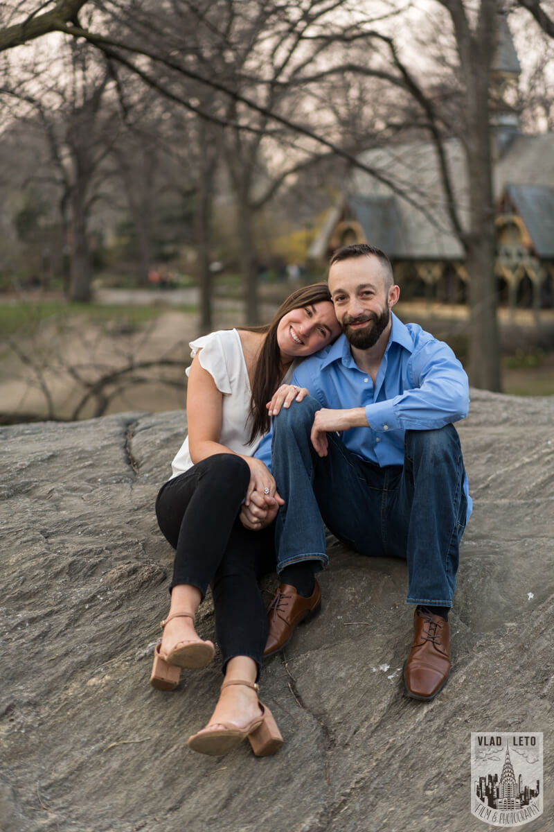 Photo 12 Central Park Marriage Proposal at The Lake Viewing Area | VladLeto