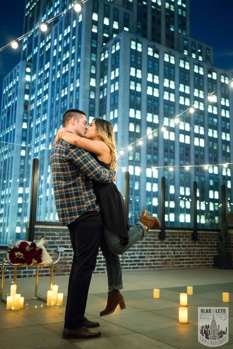 Rooftop for proposal in New York