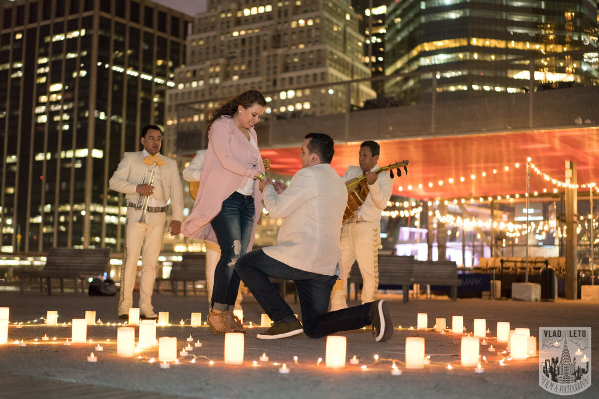 Photo 3 Marriage proposal at Pier 15 with mariachi band, NYC | VladLeto