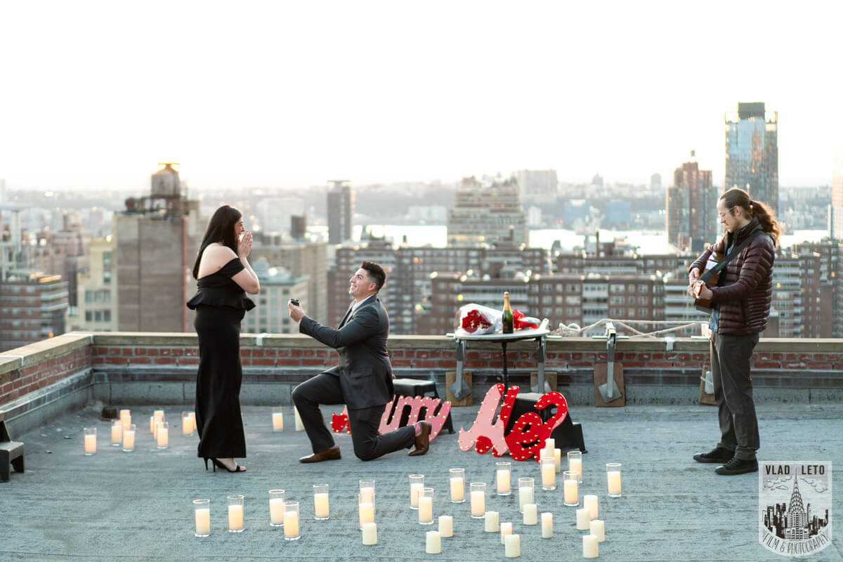 Proposing on Rooftop in nyc