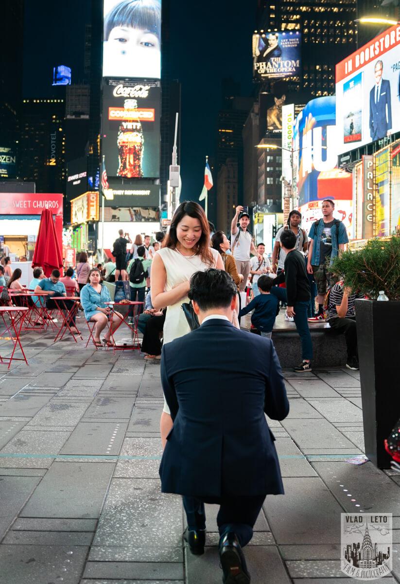 Photo Times square proposal | VladLeto