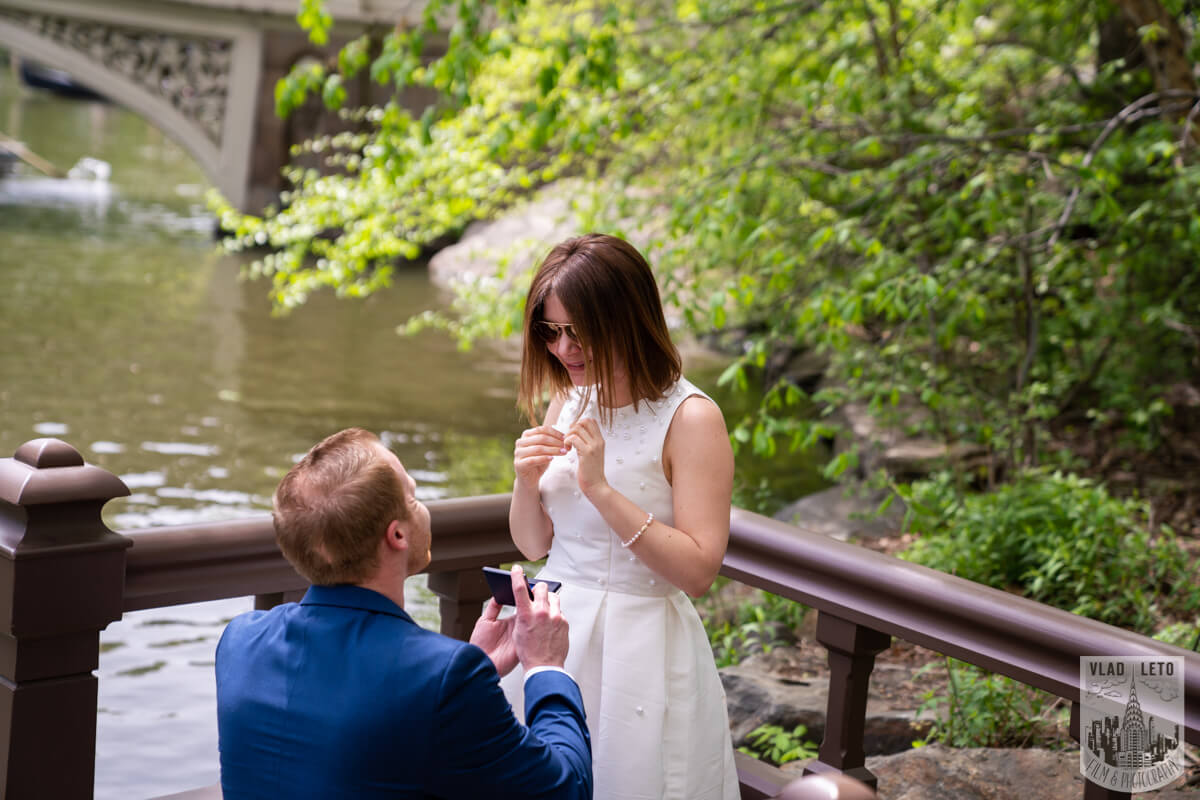 Photo 2 Proposal in front of Bow bridge in Central Park. | VladLeto