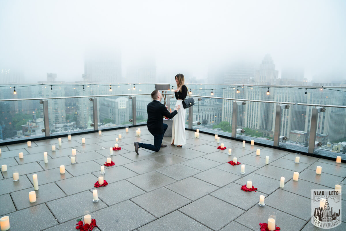 I proposed on a rooftop in nyc