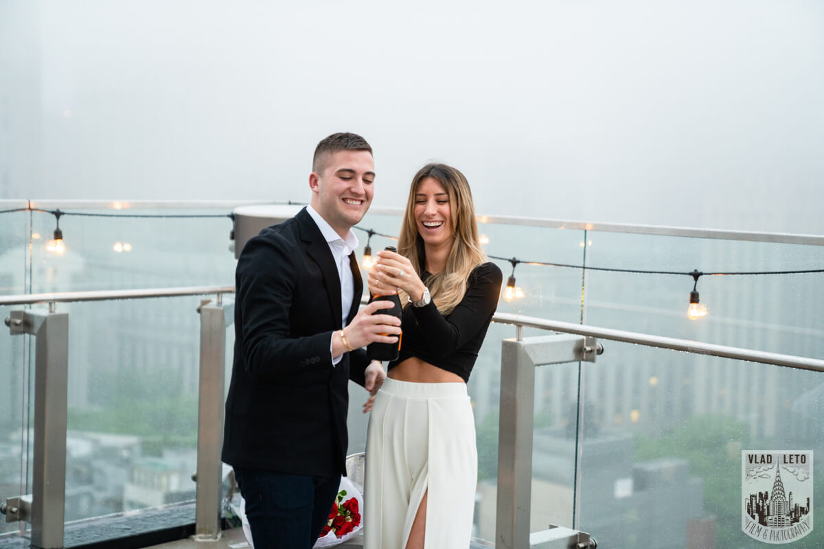 Photo 10 Surprise Proposal on a rooftop in Downtown Manhattan. | VladLeto
