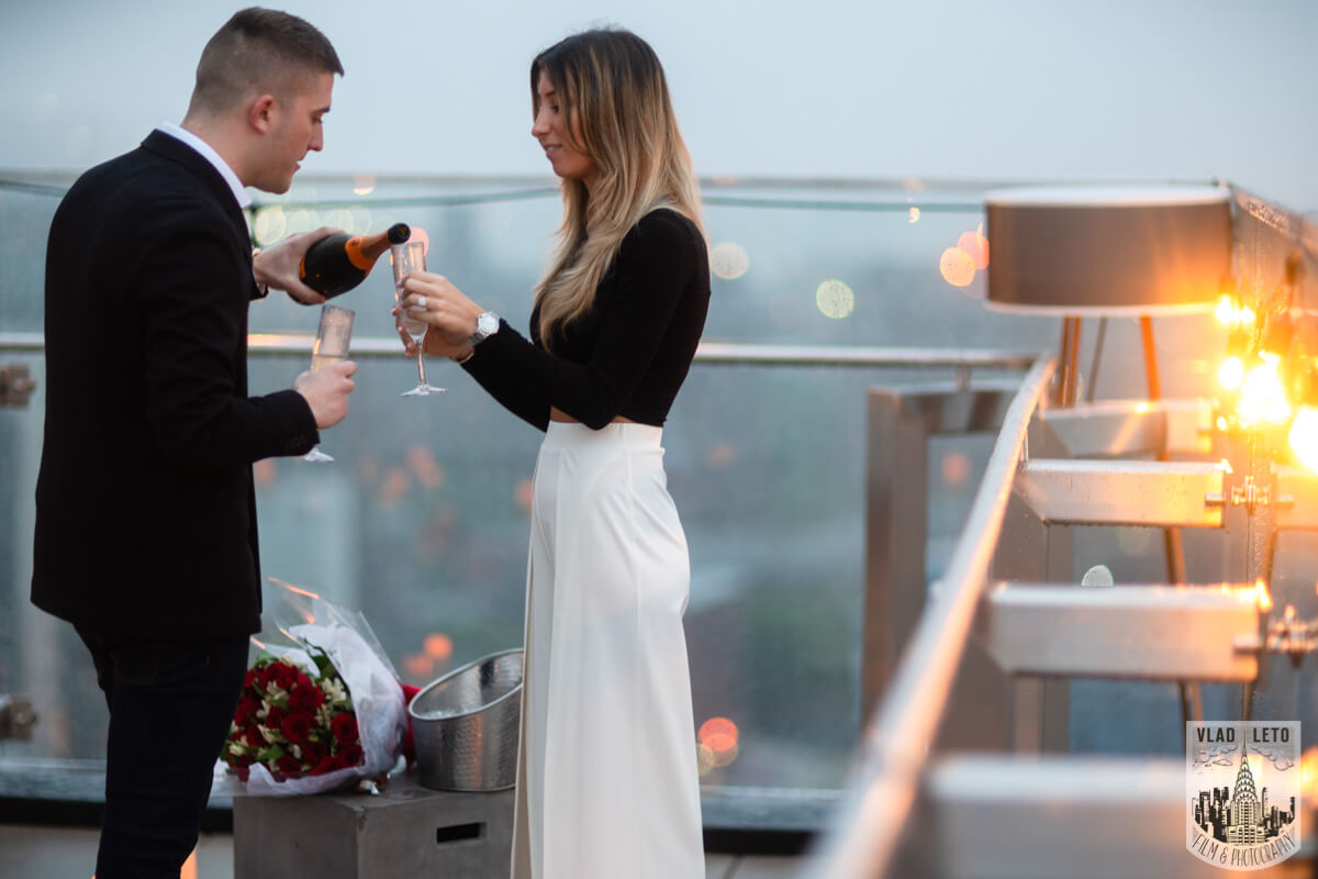 Photo 14 Surprise Proposal on a rooftop in Downtown Manhattan. | VladLeto
