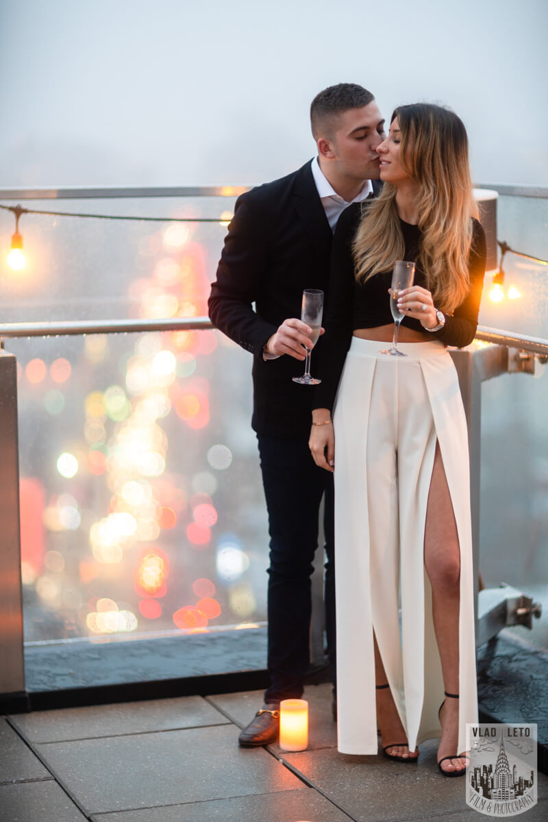 Photo 13 Surprise Proposal on a rooftop in Downtown Manhattan. | VladLeto
