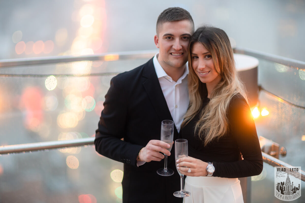 Photo 12 Surprise Proposal on a rooftop in Downtown Manhattan. | VladLeto