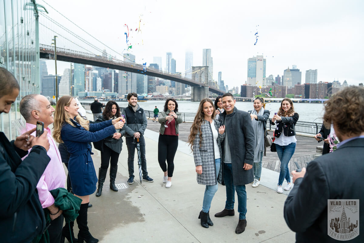 Photo 9 Surprise Marriage Proposal in Dumbo, Brooklyn | VladLeto