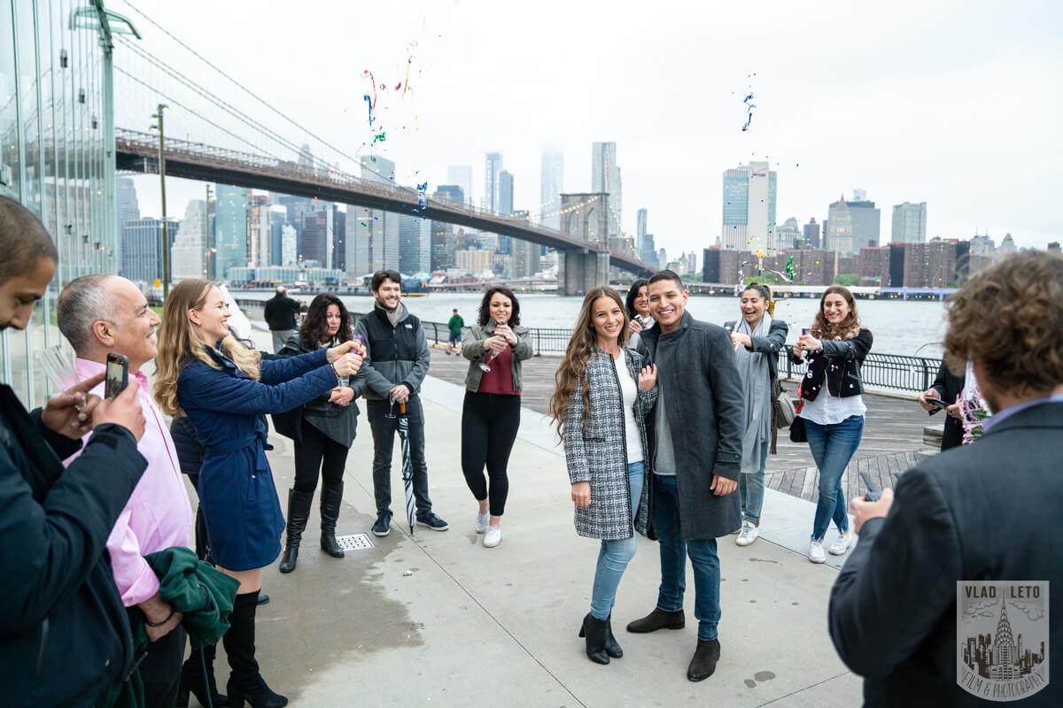 Photo 8 Surprise Marriage Proposal in Dumbo, Brooklyn | VladLeto