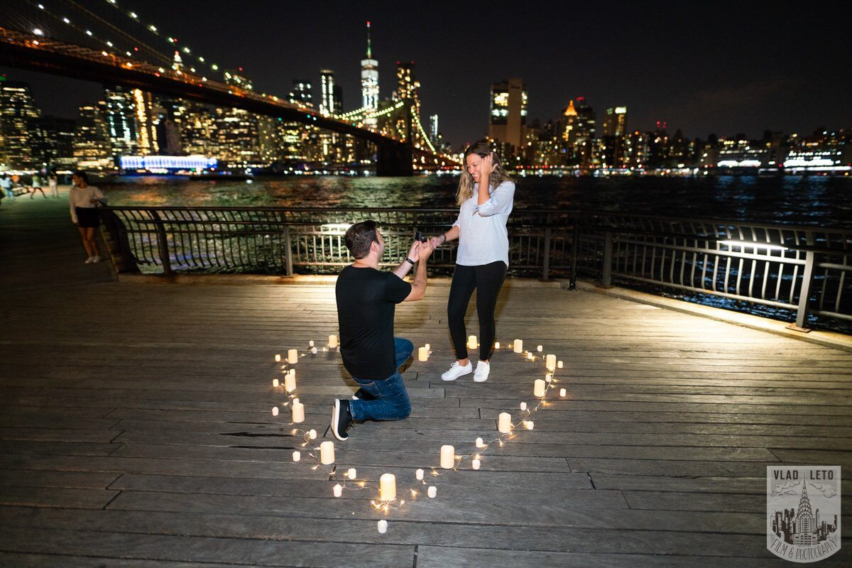 proposal by brooklyn bridge