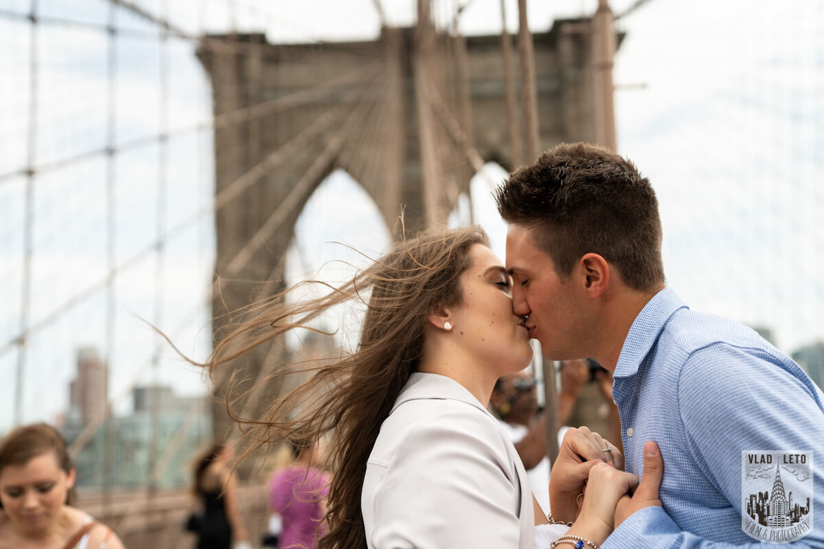 Photo 13 Brooklyn Bridge Engagement Photos | VladLeto