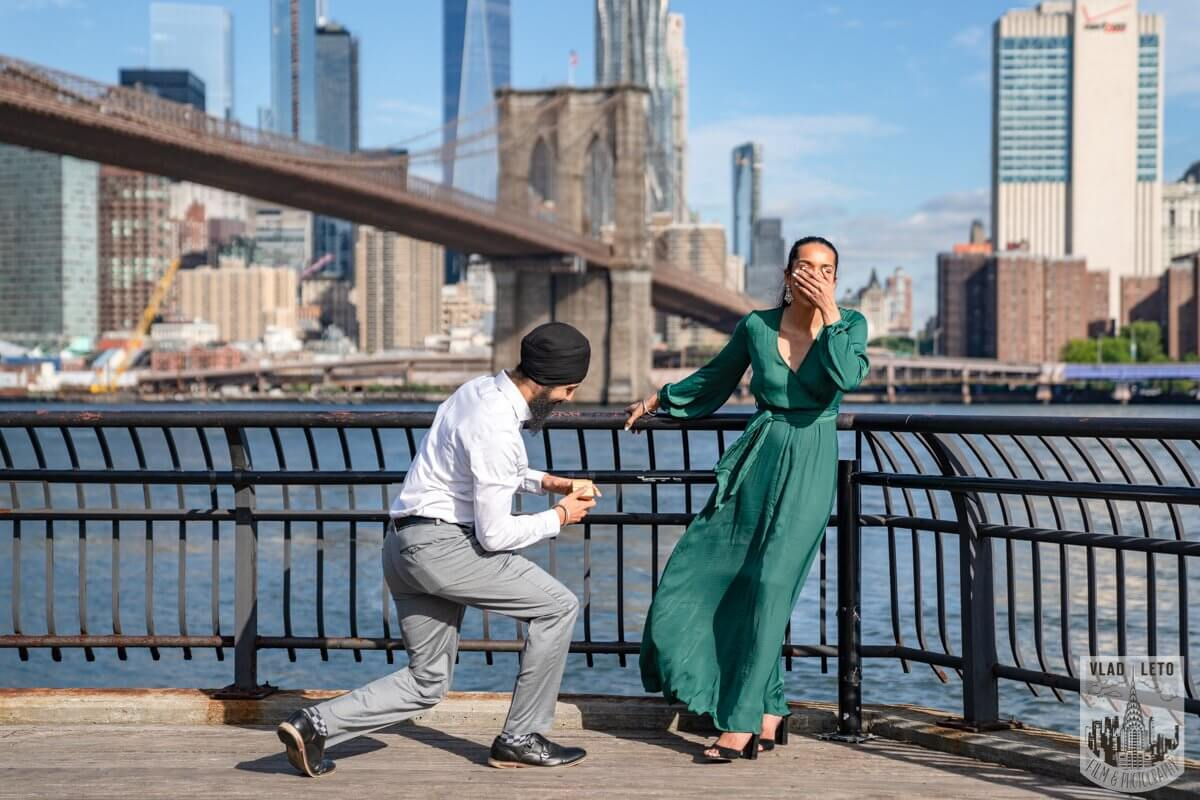 Photo BEST Proposal Reaction! Brooklyn bridge park. | VladLeto