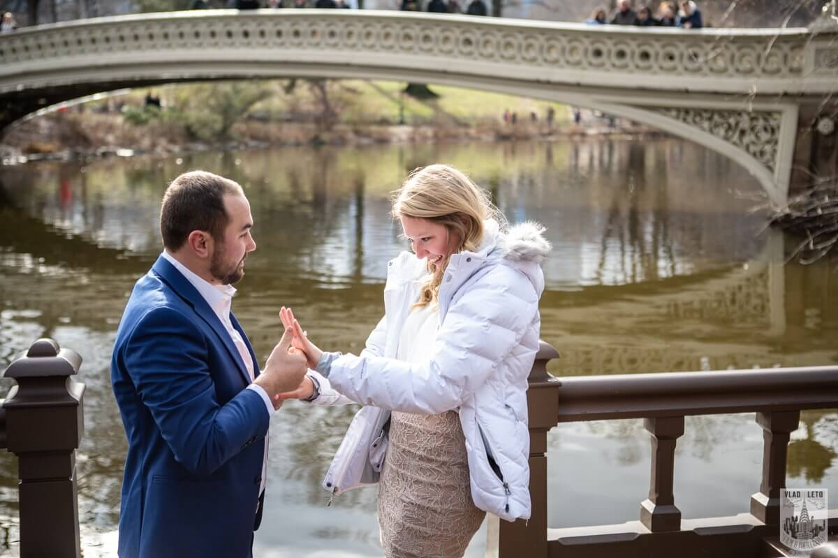 Photo 5 Marriage Proposal by Bow Bridge in Central Park. | VladLeto