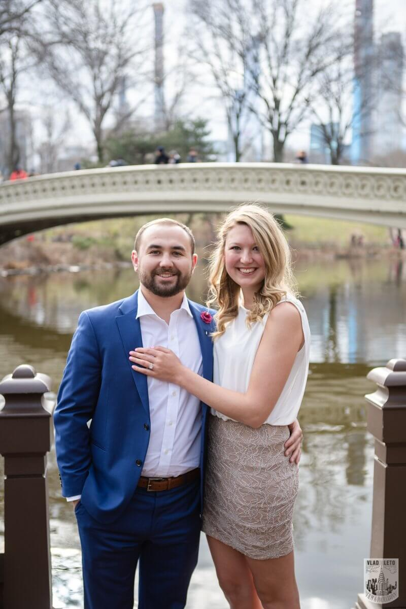 Photo 4 Marriage Proposal by Bow Bridge in Central Park. | VladLeto