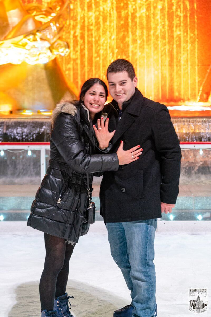 Photo 4 Ice Skating Marriage Proposal at Rockefeller Center | VladLeto