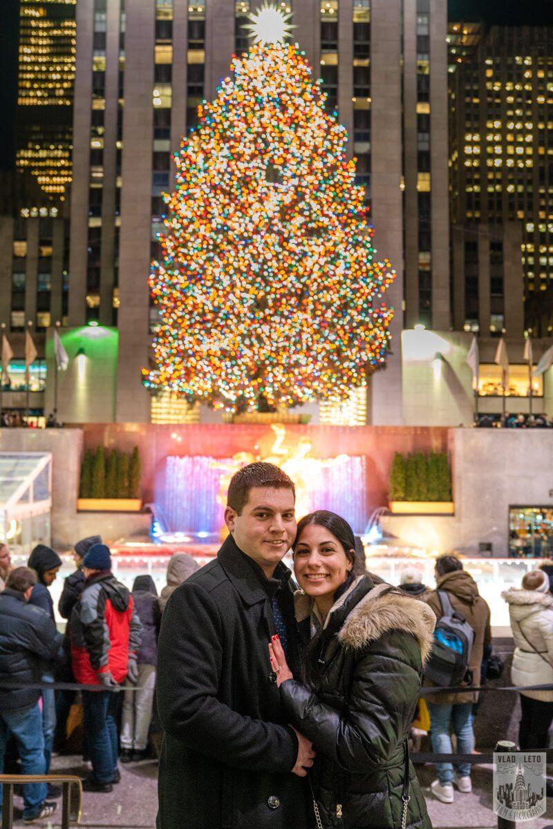 Photo 8 Ice Skating Marriage Proposal at Rockefeller Center | VladLeto
