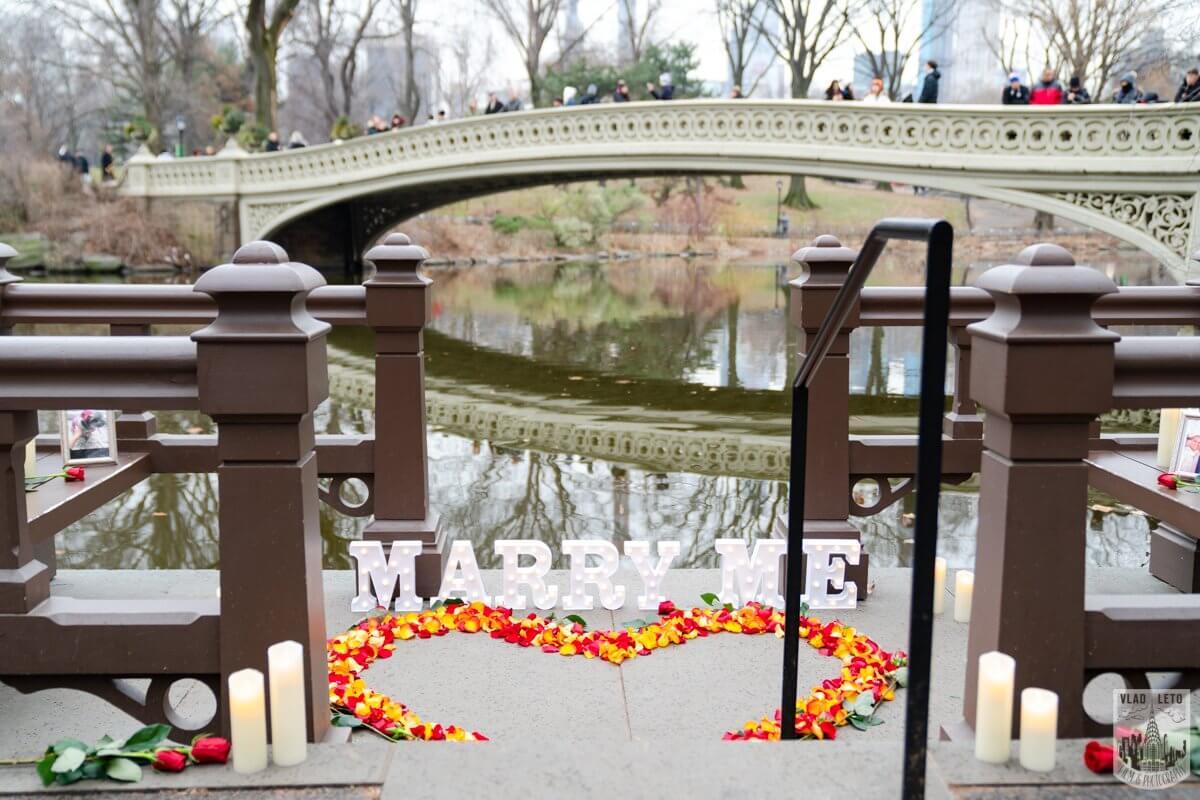 Photo Central Park Marriage Proposal by Bow Bridge. | VladLeto
