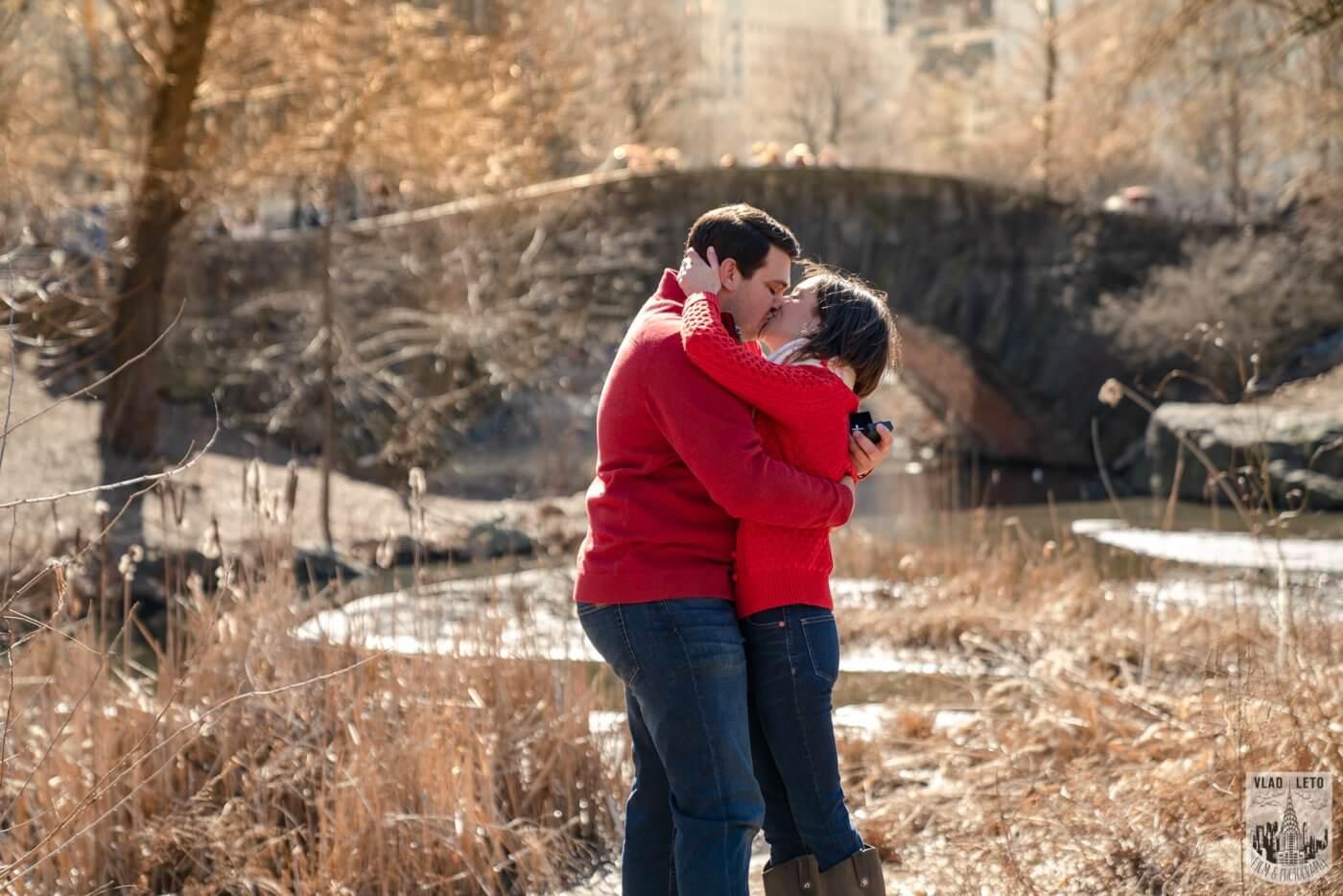 Photo 5 Gapstow bridge Marriage proposal in Central Park | VladLeto