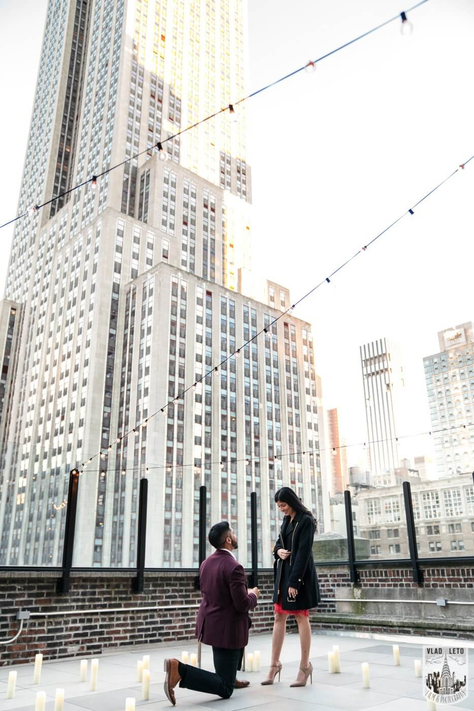 Photo NYC Rooftop Proposal | VladLeto