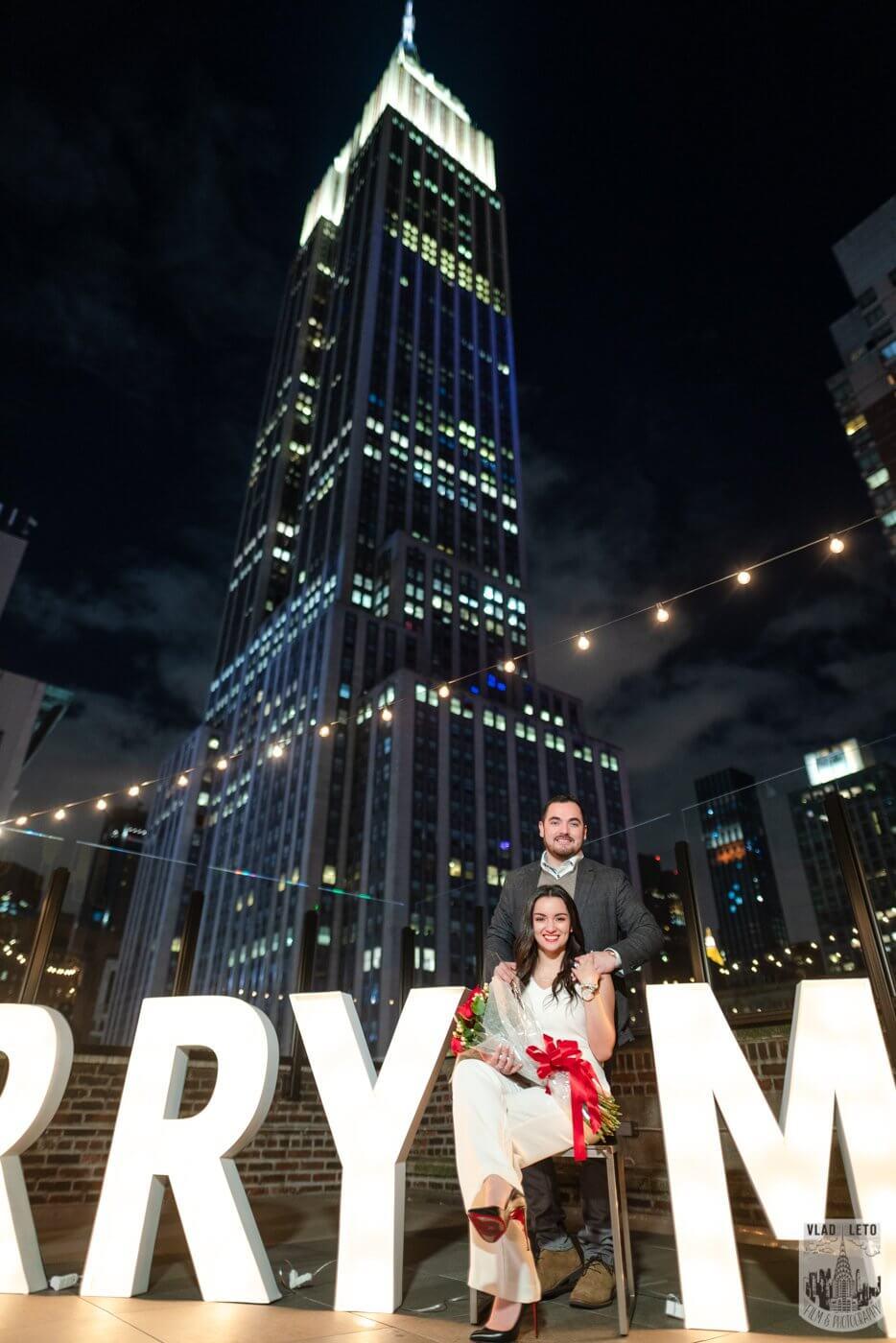 Photo 5 Gigantic Marry Me Letters Rooftop Proposal | VladLeto