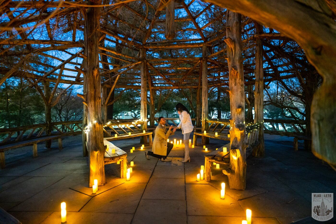 Photo 3 Night Proposal with Candles in Central Park | VladLeto