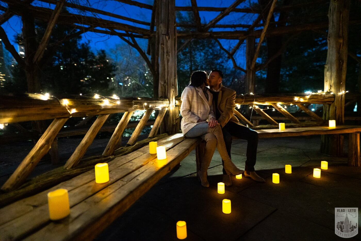Photo 7 Night Proposal with Candles in Central Park | VladLeto