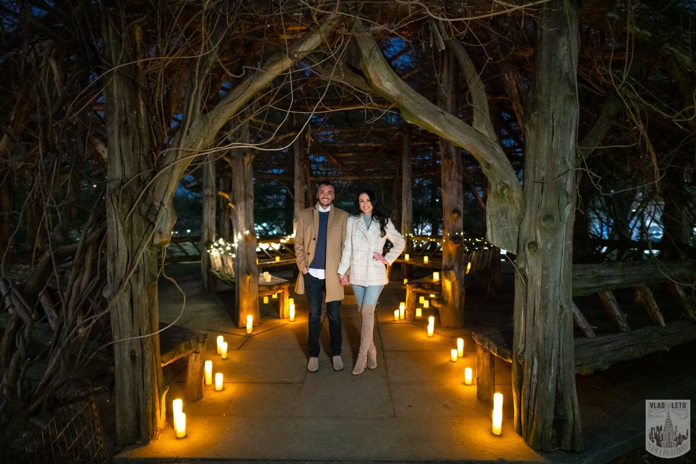 Photo 11 Night Proposal with Candles in Central Park | VladLeto