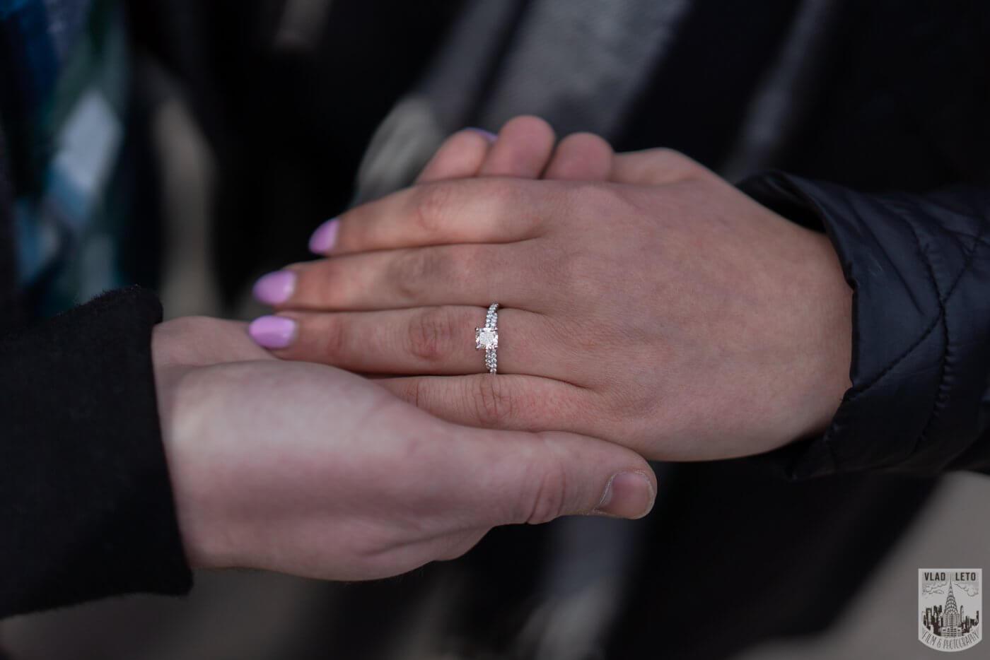 Photo 15 Bow bridge wedding proposal in Central Park | VladLeto
