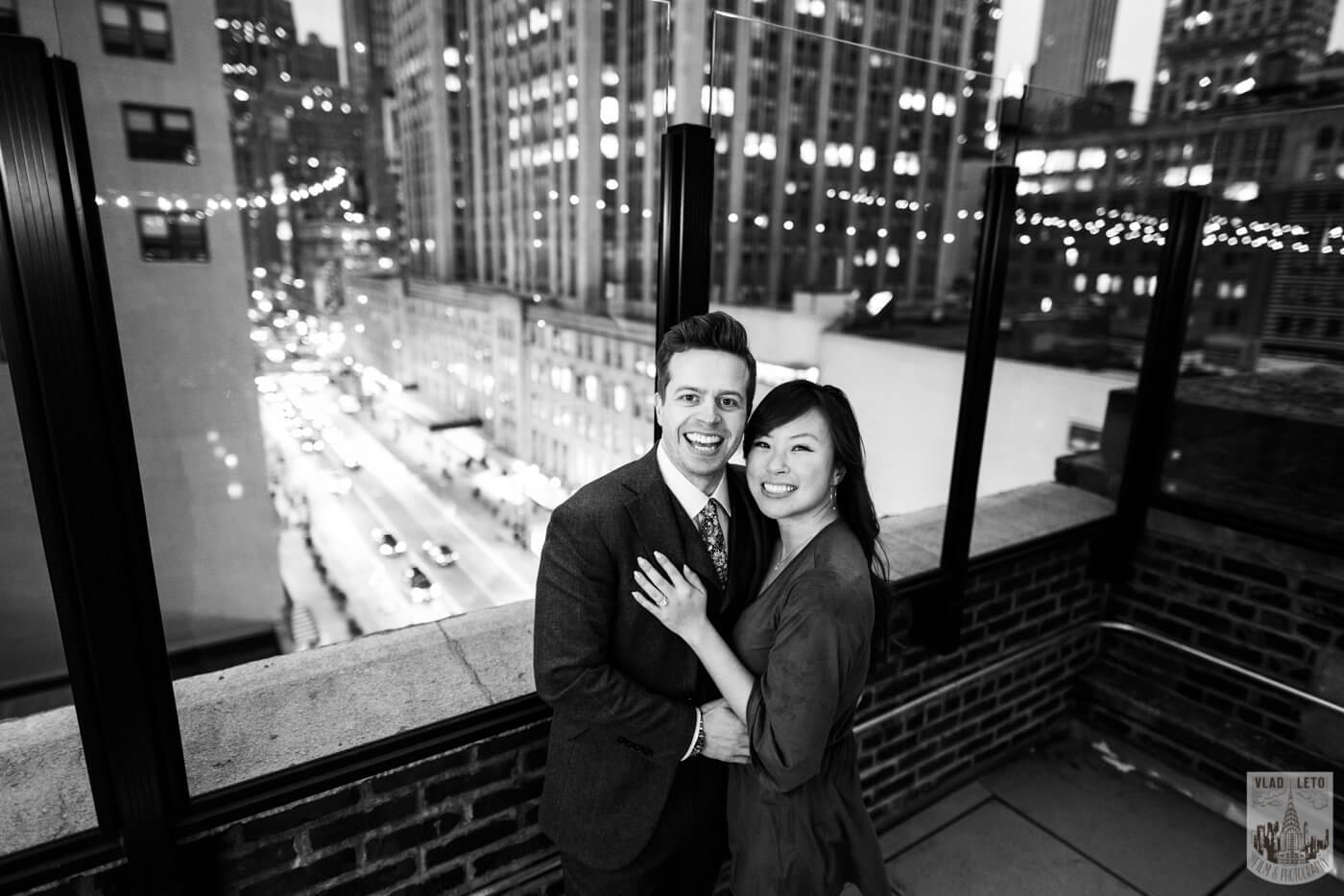 Photo 6 Wedding proposal on a private rooftop with Empire State building view.   VladLeto