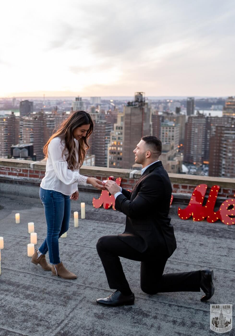 Photo 3 Sunset Proposal on private rooftop New York | VladLeto