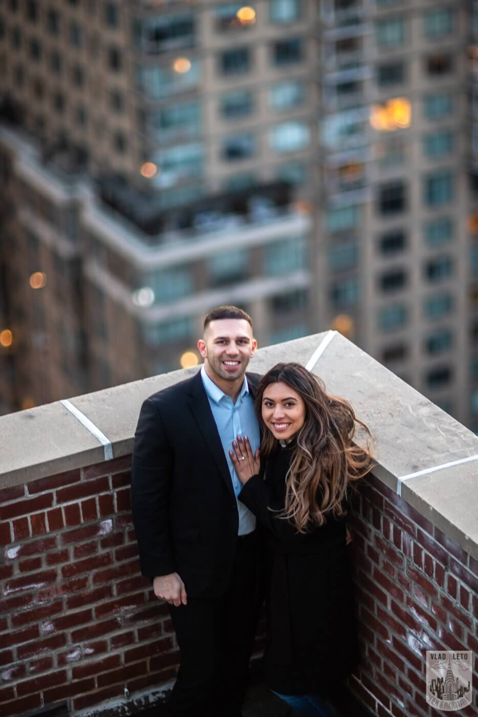 Photo 17 Sunset Proposal on private rooftop New York | VladLeto
