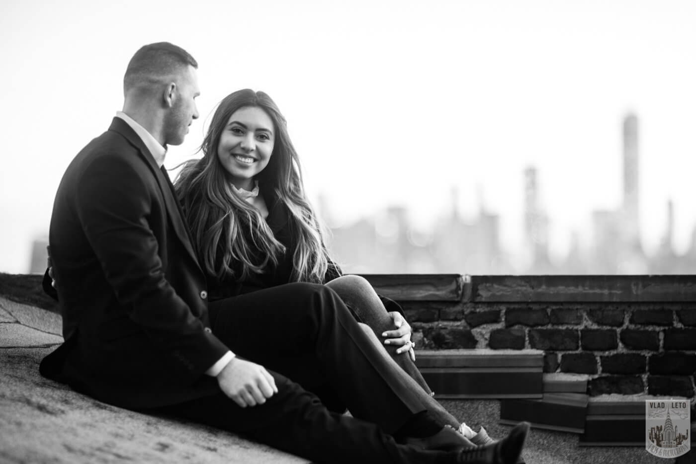 Photo 11 Sunset Proposal on private rooftop New York | VladLeto