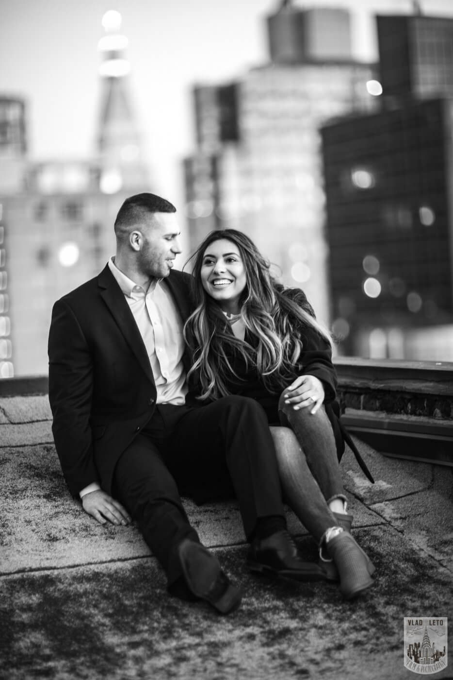 Photo 13 Sunset Proposal on private rooftop New York | VladLeto