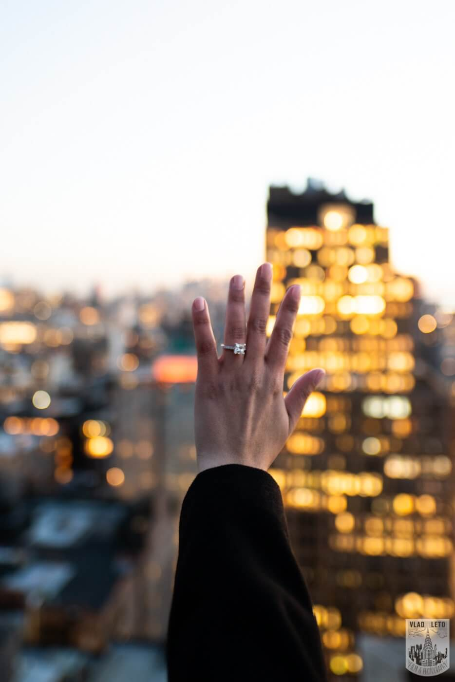 Photo 15 Sunset Proposal on private rooftop New York | VladLeto
