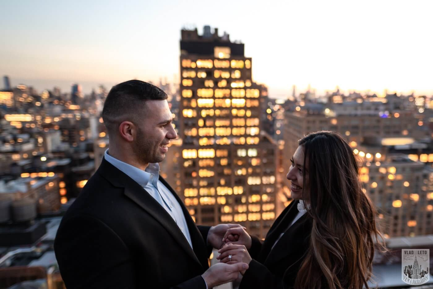 Photo 9 Sunset Proposal on private rooftop New York | VladLeto