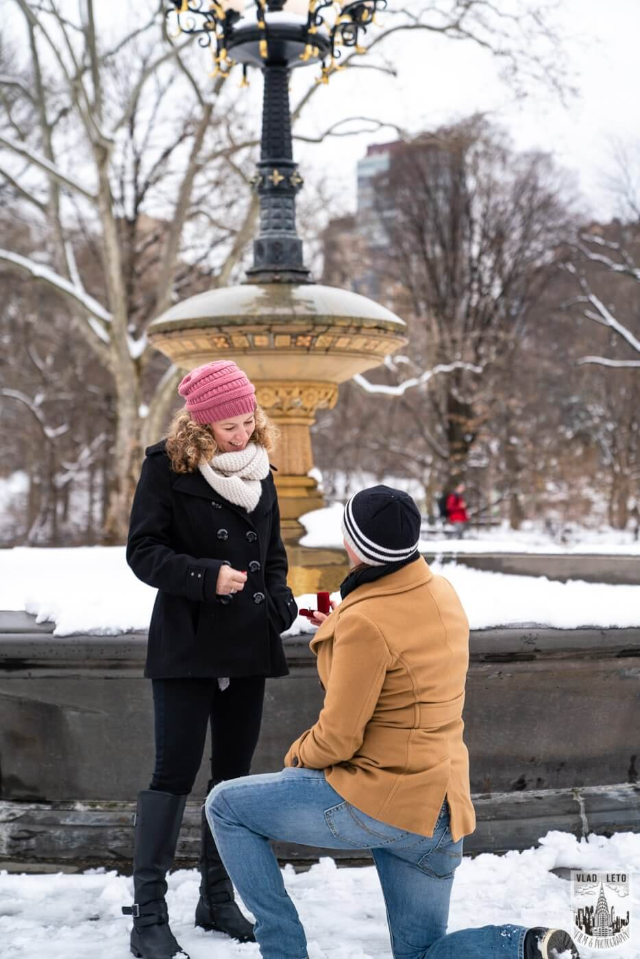 Photo 4 Same sex couple proposal at Cherry Hill in Central Park | VladLeto