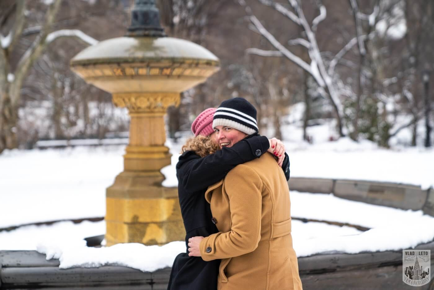 Photo 3 Same sex couple proposal at Cherry Hill in Central Park   VladLeto